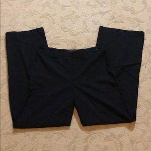Chanel high rise wide leg wool side zip trouser